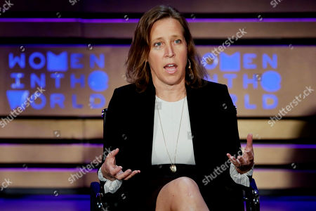 YouTube CEO Susan Wojcicki speaks during the Women in the World Summit at Lincoln Center in New York