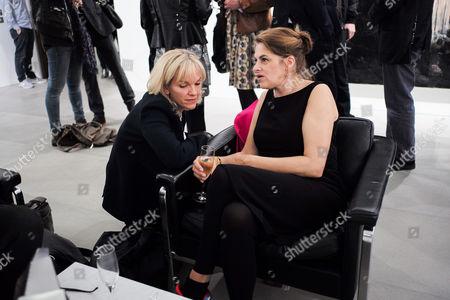 Elisabeth Murdoch and Tracey Emin