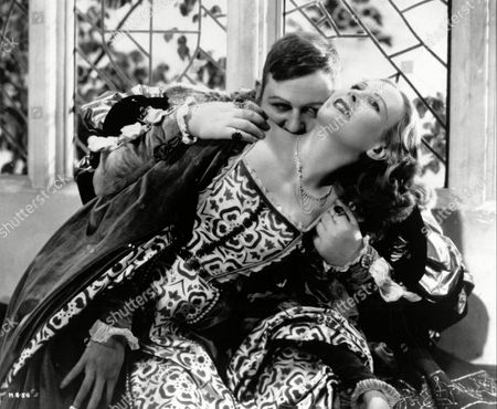 'The Alexander Korda Story'   TV  King Henry Viii (Charles Laughton) Kisses Jane Seymour (Wendy Barrie) on the Neck