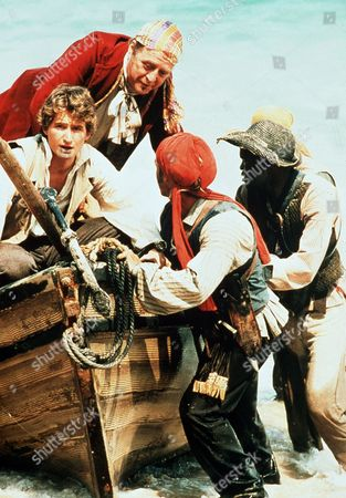 'The Coral Island'   TV Ralph Rover (William Mannering) and Pirate Captain (Nicholas Ball)