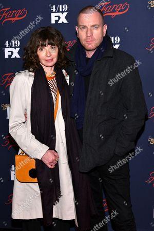 Eve Mavrakis and Ewan McGregor