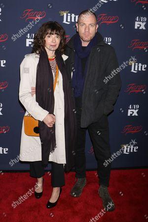 Stock Photo of Ewan McGregor and Eve Mavrakis