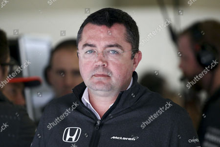 McLaren Team Chief Eric Boullier inside the garage during the second practice session which was cancelled due to poor weather conditions ahead of the Chinese Formula One Grand Prix at the Shanghai International circuit in Shanghai, China, 07 April 2017. The 2017 Chinese Formula One Grand Prix will take place on 09 April.