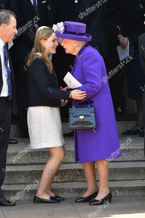 Margarita Armstrong-Jones and Queen Elizabeth II