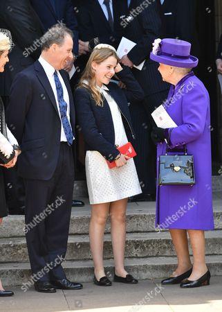 David Armstrong-Jones, Margarita Armstrong-Jones and Queen Elizabeth II