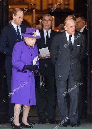 Prince William, Queen Elizabeth II, Prince Andrew and Prince Philip