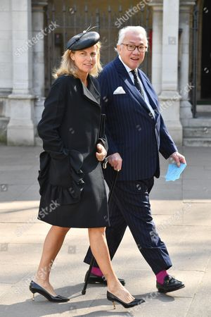 Stock Image of Sir David Tang and Lady Lucy Tang