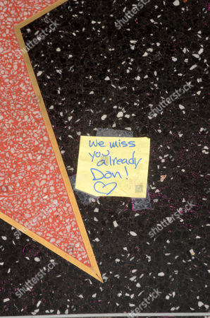 Don Rickles' star and message