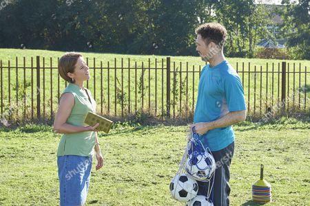 Sinead Keenan as Mel Jones and Kent Riley as Football Coach.