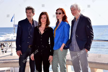 Stock Picture of 'Spiral' photocall - Fred Bianconi, Caroline Proust, Audrey Fleurot and Philippe Duclos during a photocall to present 'Engrenages'