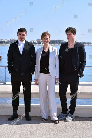 Alexej Manvelov, Marie Richardson and Adam Palsson during a photocall to present 'Before we Die'