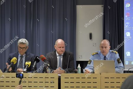 Anders Thornberg, Swedish Security Service (Säpo), Dan Eliasson, National Police Commissioner, Mats Löfving, Deputy Director of the Swedish Police Authority