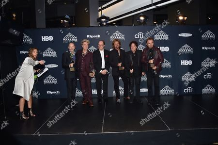 Editorial picture of 2017 Rock and Roll Hall of Fame Induction Ceremony, Press Room, New York, USA - 07 Apr 2017