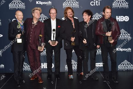 Stock Picture of Journey - Steve Smith, Ross Valory, Aynsley Dunbar, Gregg Rolie, Neal Schon and Jonathan Cain