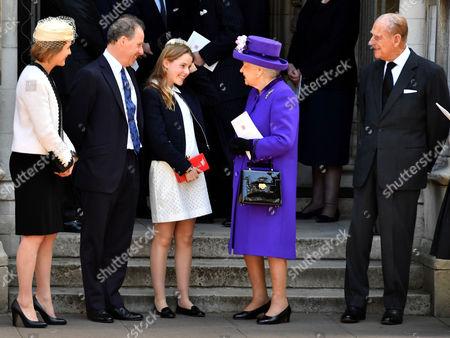 Queen Elizabeth II and Prince Philip, Lady Margarita Armstrong-Jones, Prince Philip, David Armstrong-Jones, harles Armstrong-Jones, David Armstrong-Jones, Serena Armstrong-Jones