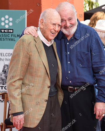 Stock Picture of Carl Reiner and Rob Reiner