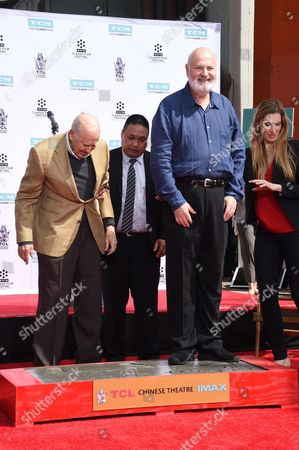 Editorial picture of Carl Reiner and Rob Reiner hand and footprint ceremony, Los Angeles, USA - 07 Apr 2017