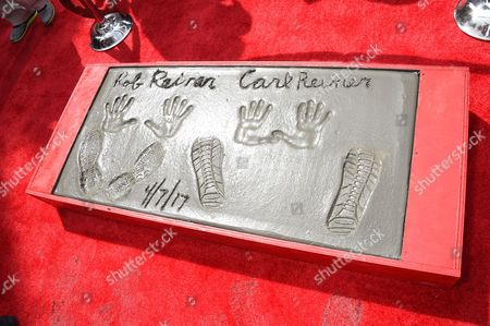Carl Reiner and Rob Reiner hand and footprints