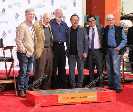 Tom Bergeron, Carl Reiner, Rob Reiner, Billy Crystal, Ben Mankiewicz, Norman Lear and Carl and Rob Reiner