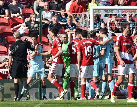 Editorial picture of Football - Premier League 2016/17 Middlesbrough v Burnley Riverside Stadium, Middlesbrough, United Kingdom - 08 Apr 2017