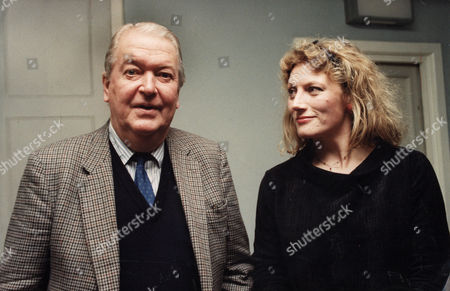Author, Kingsley Amis with Actress, Geraldine James.
