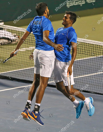Editorial photo of Uzbekistan Tennis Davis Cup, Bangalore, India - 08 Apr 2017