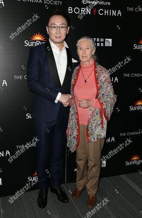 Chuan Lu and Dr. Jane Goodall