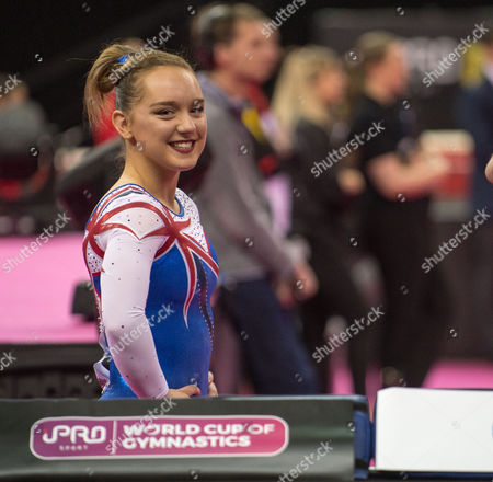 Amy Tinkler (GBR).  FIG World Cup Series of Gymnastics. The O2 Arena, London,  Britain 8th April 2017.