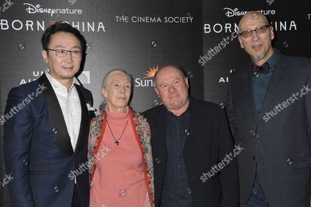 Director Chuan Lu, Jane Goodall, Brian Leith, Roy Conli