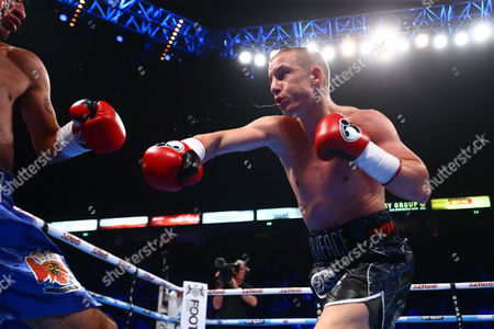 during the bantamweight division fight between Paul Butler and Carlos Ruiz fought at the Manchester Arena, Manchester on 8th April 2017