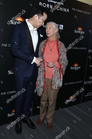 Stock Picture of Chuan Lu, director and Dr. Jane Goodall