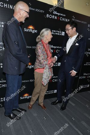 Roy Conli, producer, Dr. Jane Goodall and Chuan Lu, director
