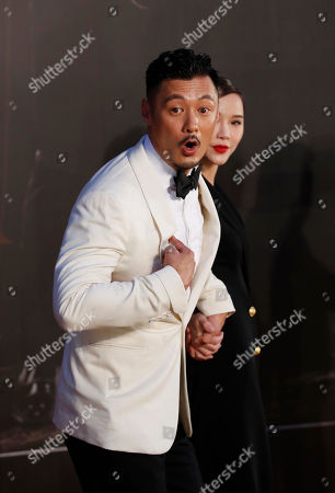 Shawn Yue, Charmaine Fong Hong Kong actor Shawn Yue, left, and actress Charmaine Fong pose on the red carpet of the Hong Kong Film Awards in Hong Kong