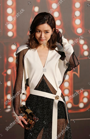 Hong Kong actress Janice Man poses on the red carpet of the Hong Kong Film Awards in Hong Kong