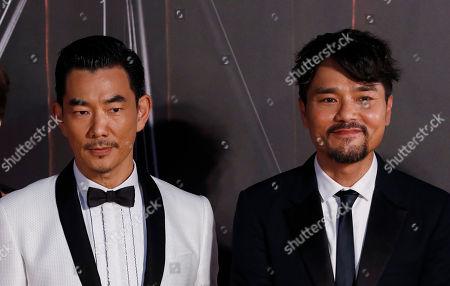 Gordon Lam, Richie Ren Hong Kong actor Gordon Lam, right, and Taiwan actor Richie Ren pose on the red carpet of the Hong Kong Film Awards in Hong Kong