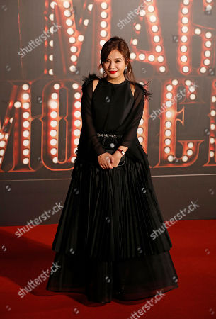 Chinese actress Vicki Zhao Wei poses on the red carpet of the Hong Kong Film Awards in Hong Kong