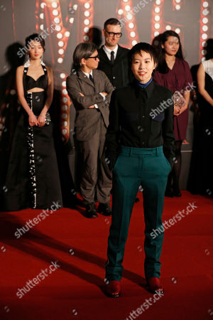 Chinese singer Leah Dou Jing Tong poses on the red carpet of the Hong Kong Film Awards in Hong Kong