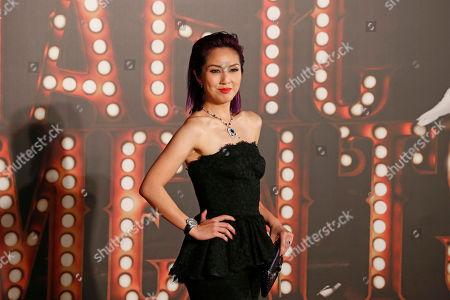 Hong Kong actress Miriam Yeung poses on the red carpet of the Hong Kong Film Awards in Hong Kong