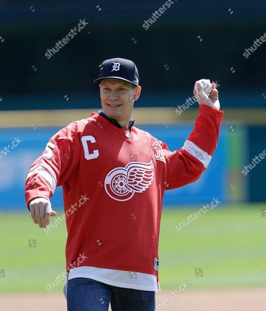 Nicklas Lidstorm Former Detroit Red Wings Hall of Famer Nicklas Lidstrom throws the ceremonial first pitch before the first inning of a baseball game between the Detroit Tigers and the Boston Red Sox, in Detroit
