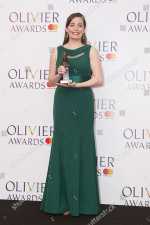 Rebecca Trehearn accepts the award for Best Actress in a Supporting Role in a Musical for Show Boat at New London Theatre