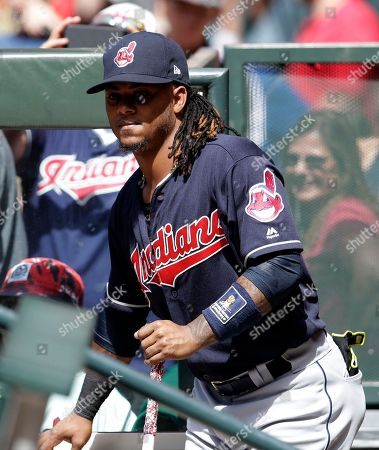 Cleveland Indians second baseman Michael Martinez (1) in the eighth inning during a baseball game against the Arizona Diamondbacks, in Phoenix