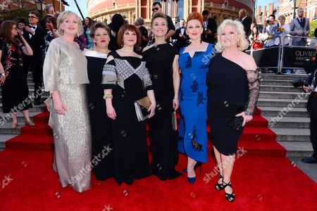 Stock Picture of The Girls - Claire Moore, Claire Machin, Debbie Chazen, Joanna Riding, Sophia-Louise Dann and Michele Dotrice