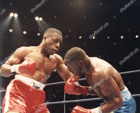 Gary Mason Former Boxer action from his fight with James Pritchard