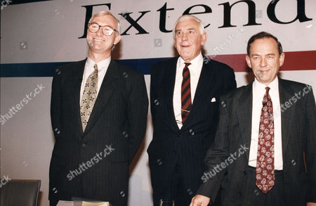 Marmaduke Hussey, (now BARON HUSSEY Of North Bradley In the County of Wiltshire, Life Peer) John Birt, (now Lord Birt) Michael Checkland BBC Chairman