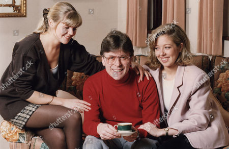 Stock Picture of Mike Yarwood, (L) Charlotte Yarwood, (R) Clare Yarwood Comedian and his two daughters at his Surrey home.....