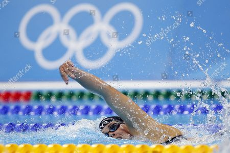 Lotte Friis of Denmark Competes in the Women's 800m Freestyle Heats of the Rio 2016 Olympic Games Swimming Events at Olympic Aquatics Stadium at the Olympic Park in Rio De Janeiro Brazil 11 August 2016 Brazil Rio De Janeiro