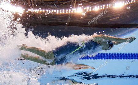 Stock Photo of Lotte Friis of Denmark Competes in the Women's 800m Freestyle Final of the Rio 2016 Olympic Games Swimming Events at Olympic Aquatics Stadium at the Olympic Park in Rio De Janeiro Brazil 12 August 2016 Brazil Rio De Janeiro
