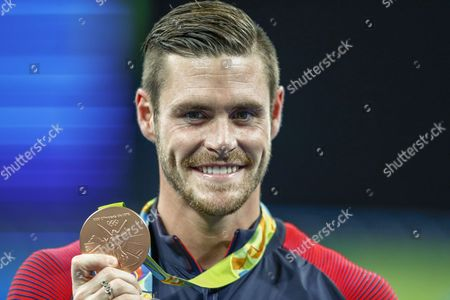 David Boudia of the Us Poses with His Bronze Medal After Finishing Third During the Rio 2016 Olympic Games Men's 10m Platform Diving Final at the Maria Lenk Aquatics Centre in the Olympic Park in Rio De Janeiro Brazil 20 August 2016 Brazil Rio De Janeiro