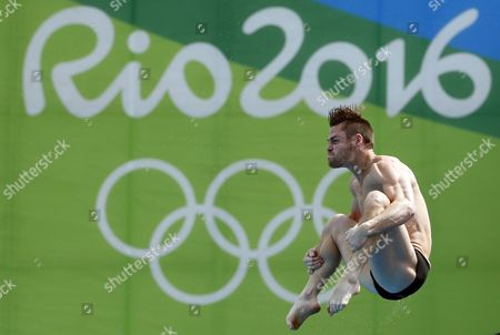 David Boudia of the Usa Competes in the Men's 10m Platform Diving Semifinal of the Rio 2016 Olympic Games Diving Events at the Maria Lenk Aquatics Centre in the Olympic Park in Rio De Janeiro Brazil 20 August 2016 Brazil Rio De Janeiro