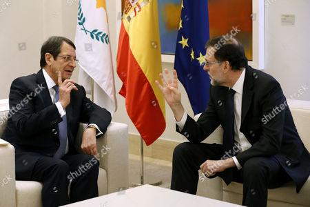 Mariano Rajoy and Nicos Anastasiadis